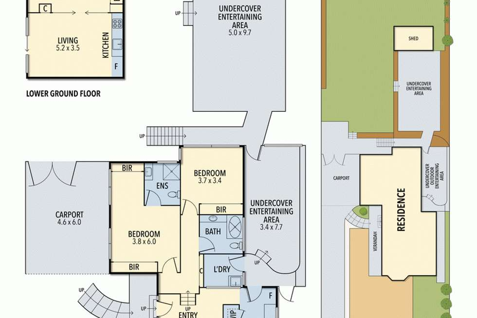 Floorplan of Homely house listing, 4 Anderson Court, Lorne VIC 3232
