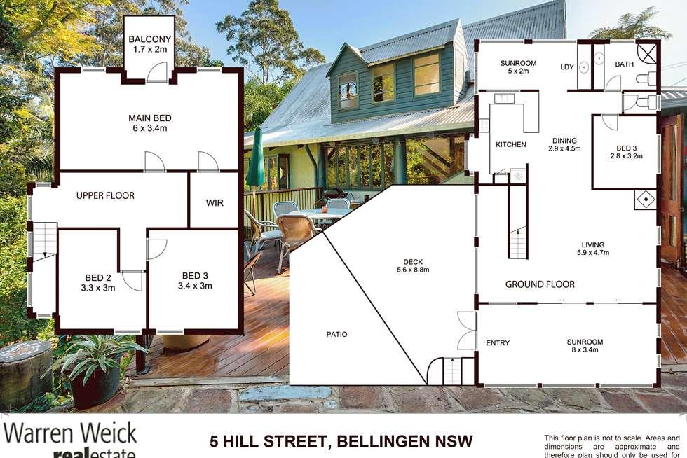 Floorplan of Homely house listing, 5 Hill Street, Bellingen NSW 2454