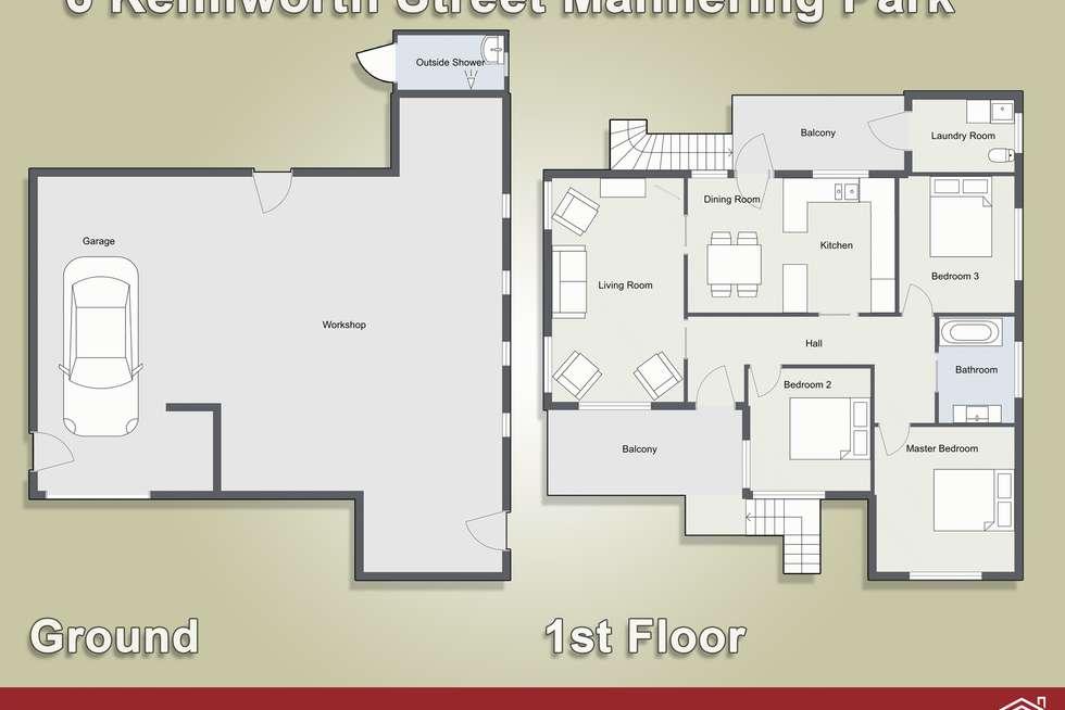 Floorplan of Homely house listing, 6 Kenilworth Street, Mannering Park NSW 2259