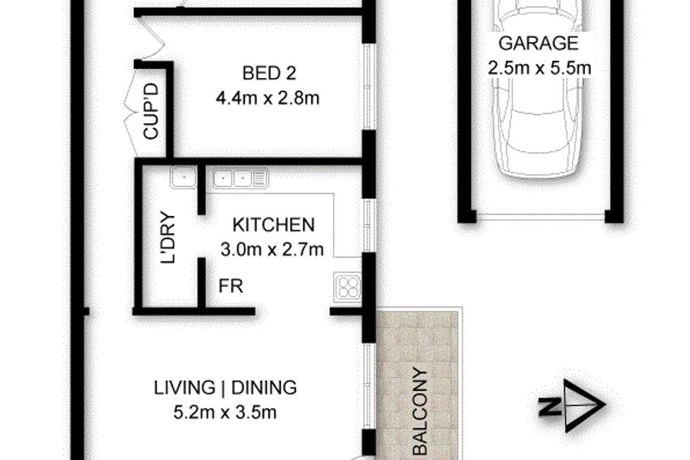 Floorplan of Homely apartment listing, 17/146-148 Chuter  Avenue, Sans Souci NSW 2219