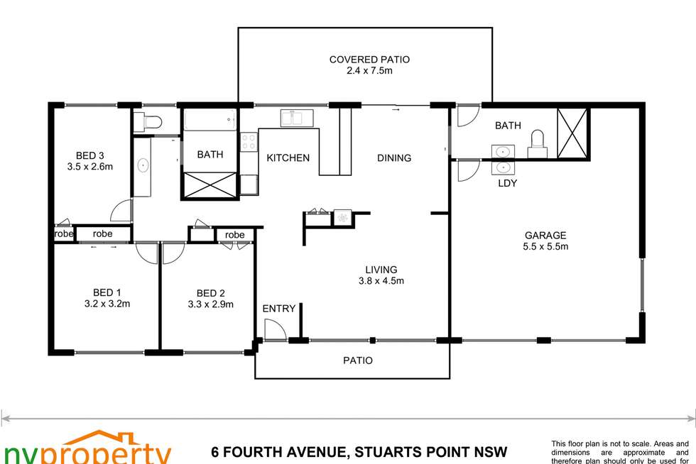 Floorplan of Homely house listing, 6 Fourth Avenue, Stuarts Point NSW 2441