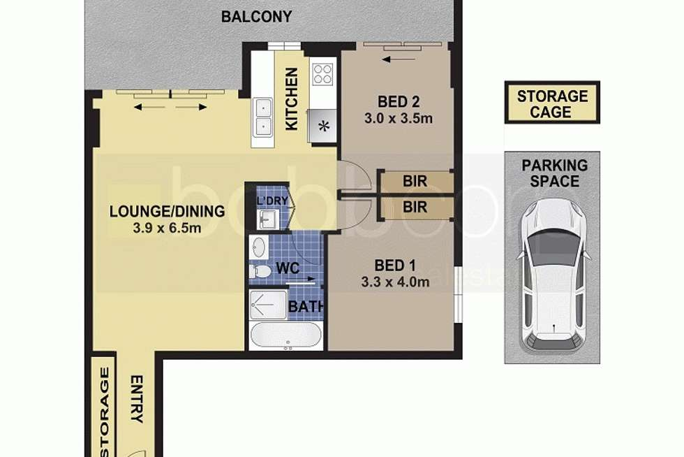 Floorplan of Homely unit listing, 27/49-53 Essington  Street, Wentworthville NSW 2145