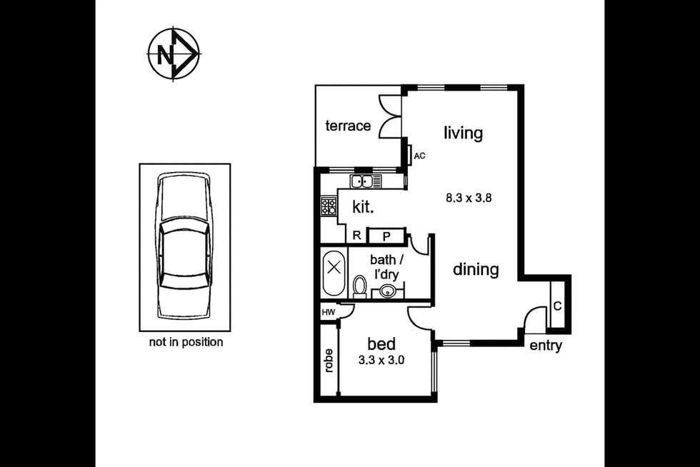 Floorplan of Homely apartment listing, 5/456 William St, West Melbourne VIC 3003