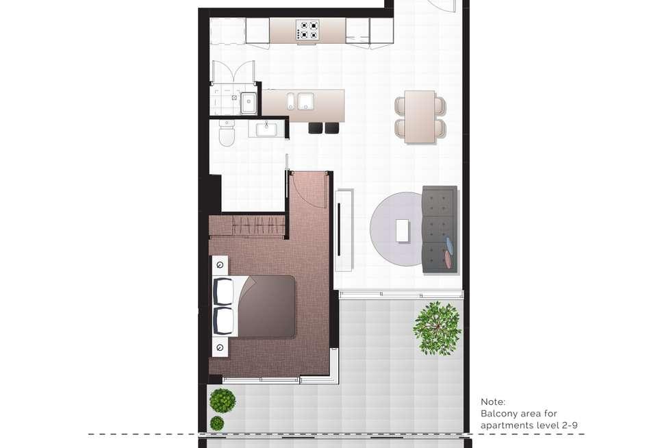 Floorplan of Homely apartment listing, 505/8 Hunt Street, Hamilton QLD 4007