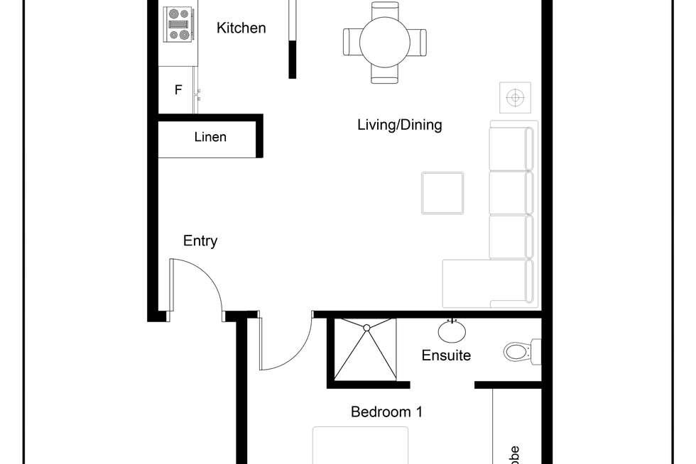 Floorplan of Homely apartment listing, 7/36 Arthur Street, North Sydney NSW 2060