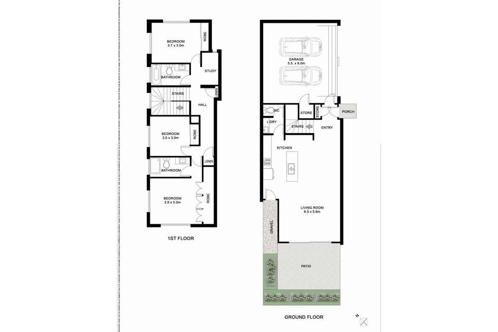Floorplan of Homely townhouse listing, 14 Terrace Street, Newmarket QLD 4051