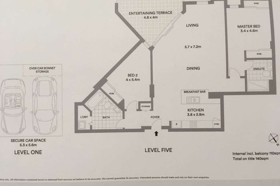 Floorplan of Homely unit listing, 503/33 The Promenade, Wentworth Point NSW 2127