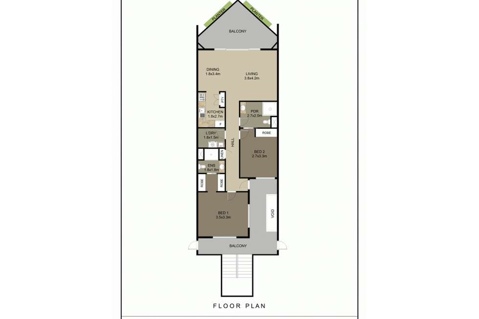 Floorplan of Homely apartment listing, 11/65 Aralia Street, Nightcliff NT 810