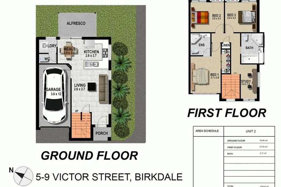 Floorplan of Homely townhouse listing, 1-5 5-9 Victor Street, Birkdale QLD 4159
