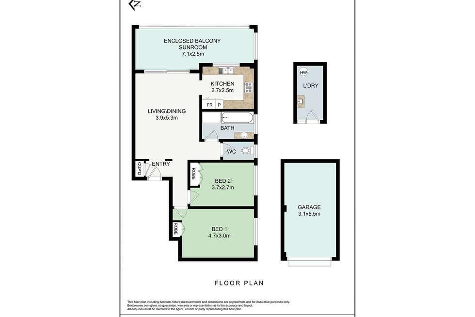 Floorplan of Homely apartment listing, 9/6-8 Hercules Road, Brighton-le-sands NSW 2216