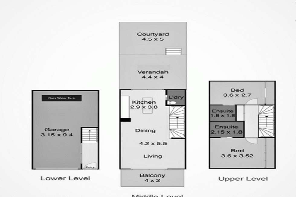 Floorplan of Homely townhouse listing, 196 Gosford Road, Adamstown NSW 2289