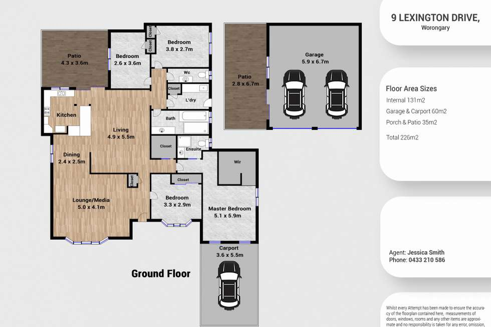 Floorplan of Homely house listing, 9 Lexington Drive, Worongary QLD 4213