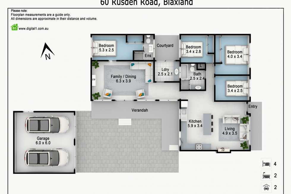 Floorplan of Homely house listing, 60 Rusden Road, Blaxland NSW 2774