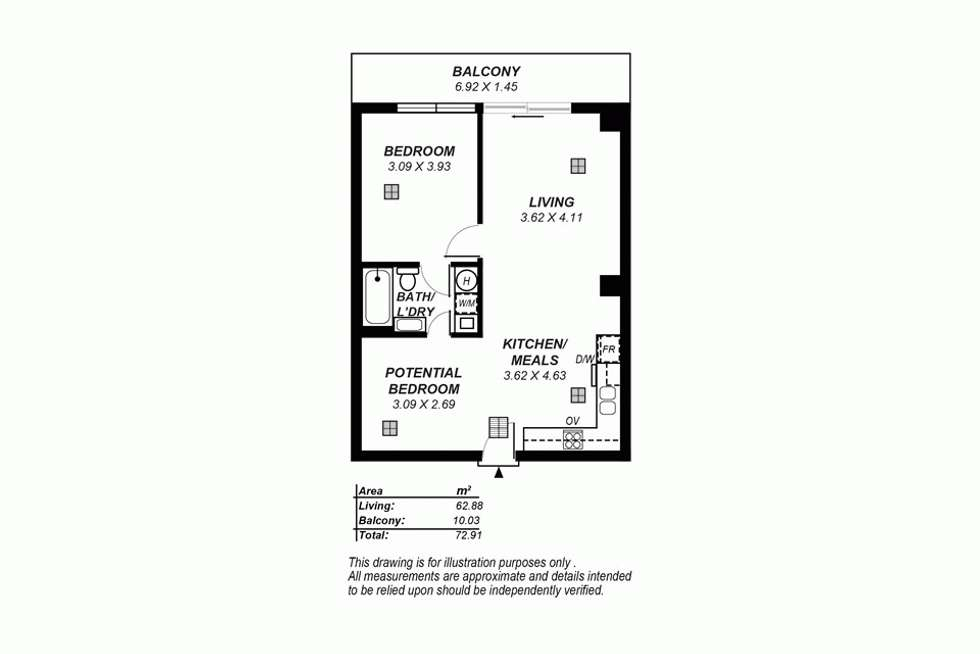Floorplan of Homely house listing, 702/39 Grenfell Street, Adelaide SA 5000