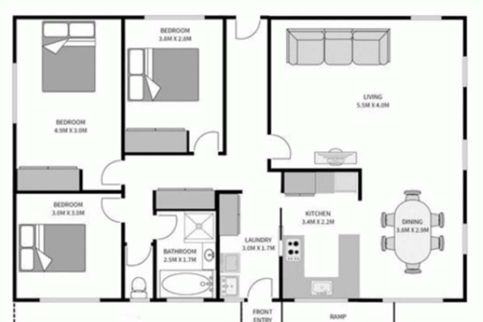 Floorplan of Homely unit listing, 1/32 Kerry Court, Summerhill TAS 7250