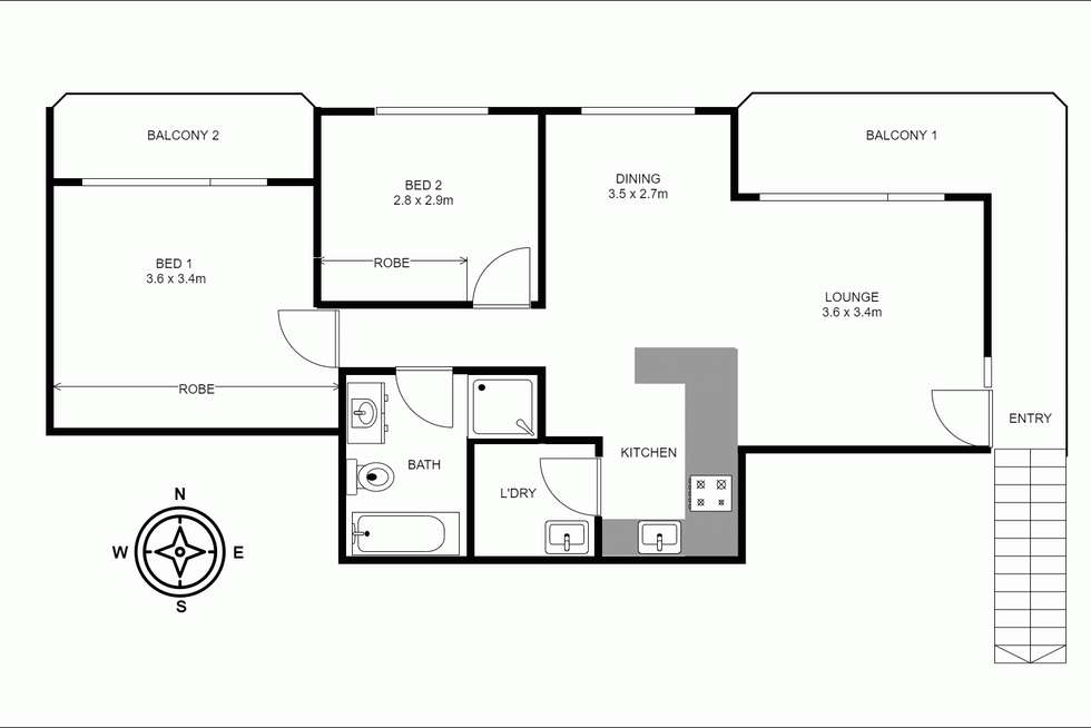 Floorplan of Homely unit listing, 7/18 The Trongate, Granville NSW 2142