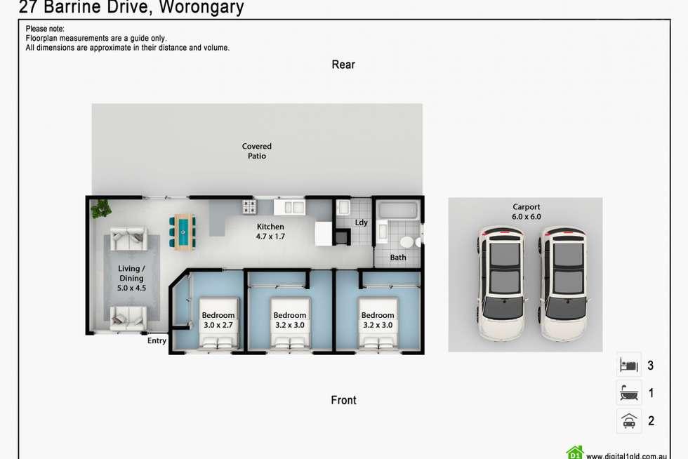 Floorplan of Homely house listing, 27 Barrine Drive, Worongary QLD 4213