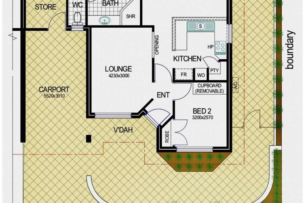Floorplan of Homely semiDetached listing, 74 Kinsella Street, Joondanna WA 6060