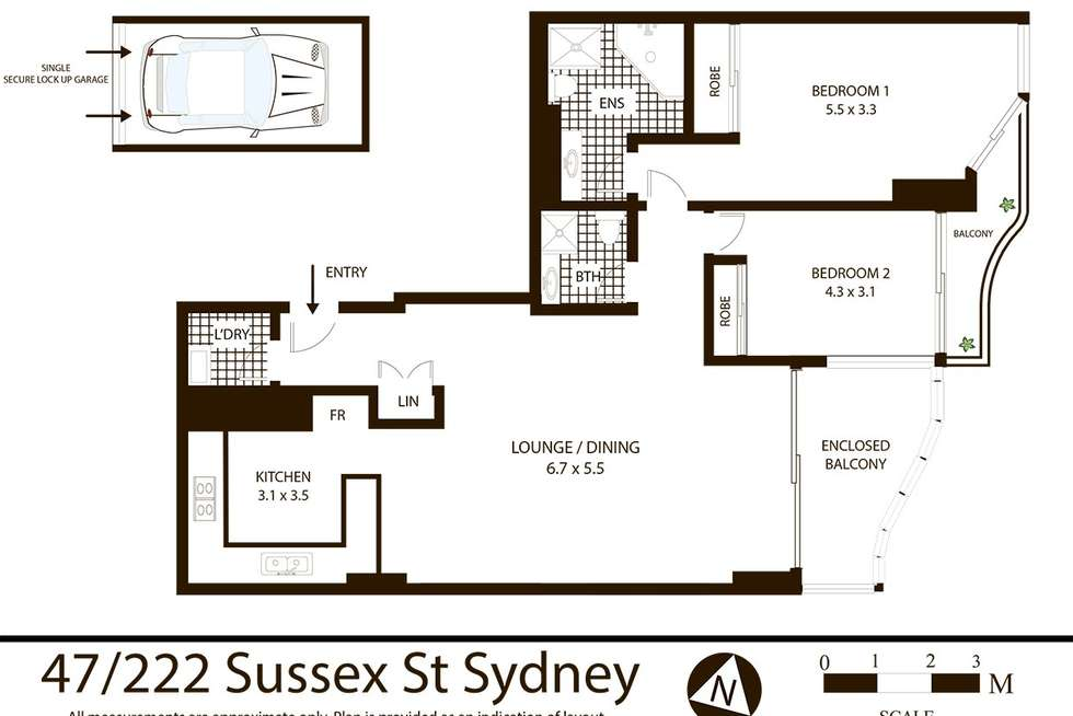 Floorplan of Homely apartment listing, 47/222 Sussex Street, Sydney NSW 2000
