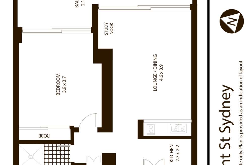 Floorplan of Homely apartment listing, 187 Kent Street, Sydney NSW 2000