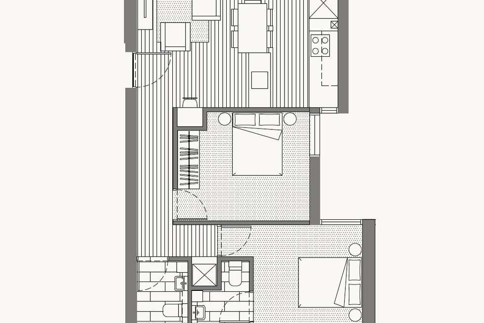 Floorplan of Homely apartment listing, 107/206 Lower Heidelberg Road, Ivanhoe VIC 3079