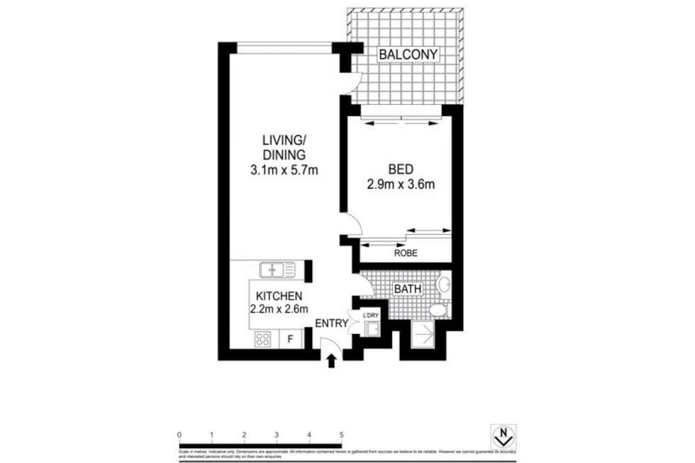 Floorplan of Homely servicedApartment listing, 501/1-3 Hosking Place, Sydney NSW 2000