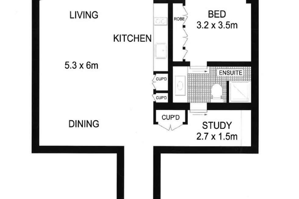Floorplan of Homely apartment listing, 129 Harrington Street, Sydney NSW 2000