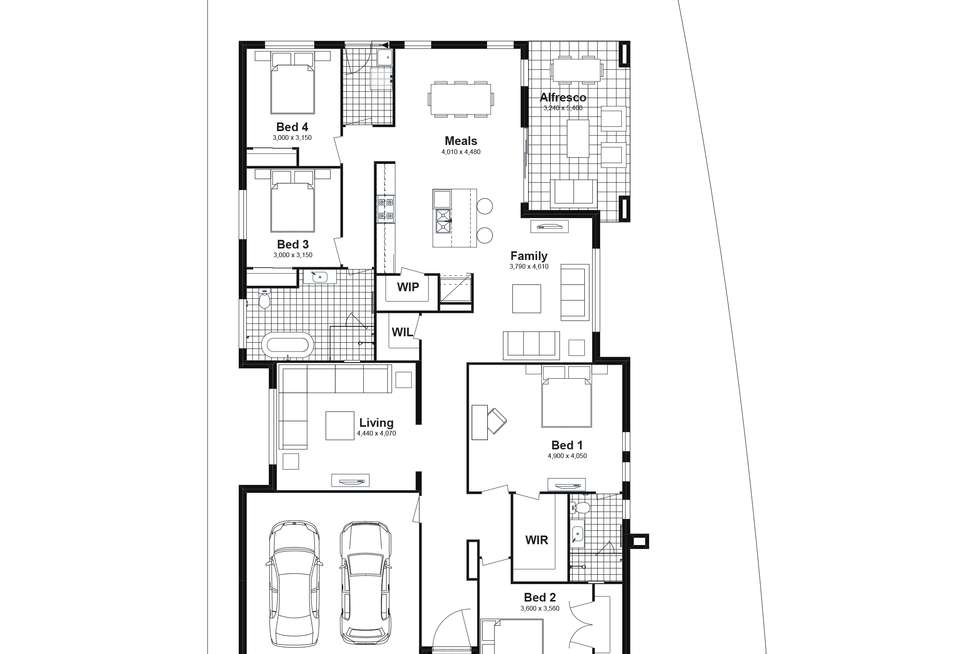 Floorplan of Homely house listing, Lot 629 Caldwell Avenue, Edmondson Park NSW 2174