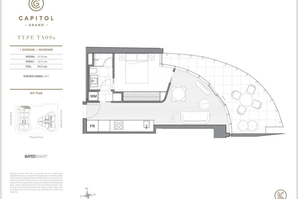 Floorplan of Homely apartment listing, 607/607/243 TOORAK ROAD, South Yarra VIC 3141
