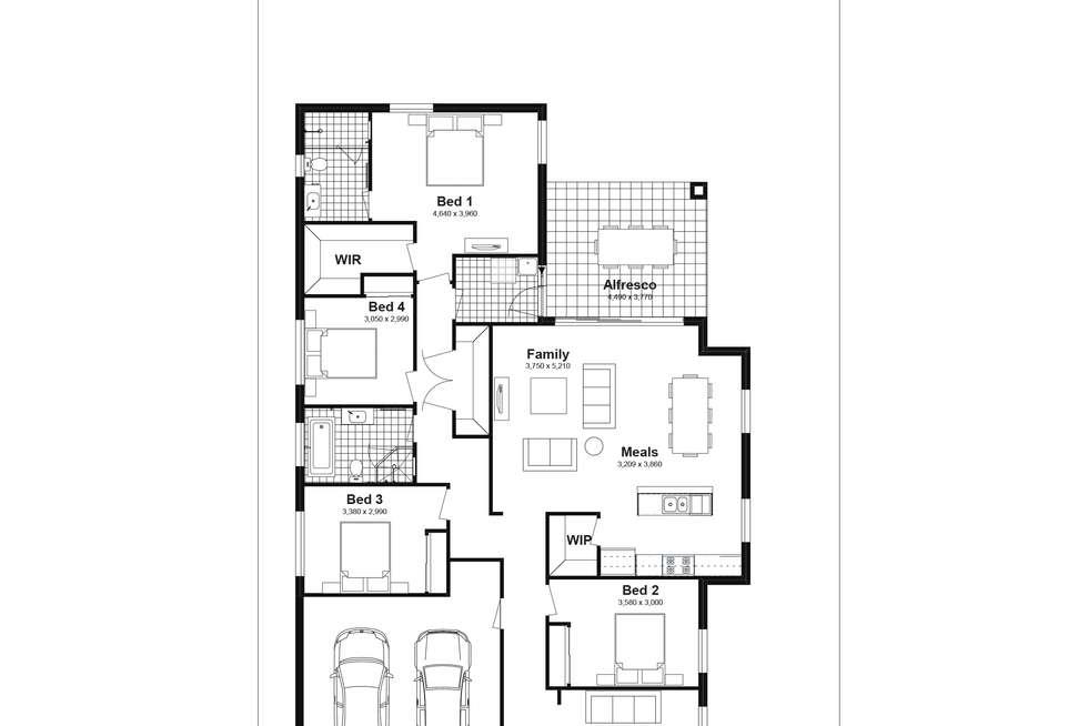 Floorplan of Homely house listing, Lot 715 Aachen Road, Edmondson Park NSW 2174
