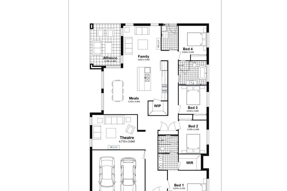 Floorplan of Homely house listing, Lot 306 Chad Street, Silverdale NSW 2752