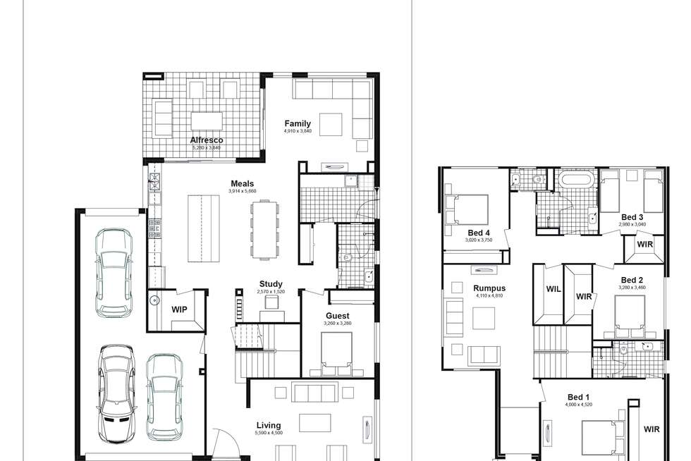 Floorplan of Homely house listing, Lot 331 Brindle Parkway, Box Hill NSW 2765
