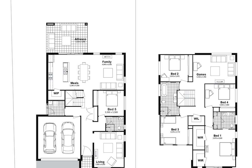 Floorplan of Homely house listing, Lot 310 Chad Street, Silverdale NSW 2752