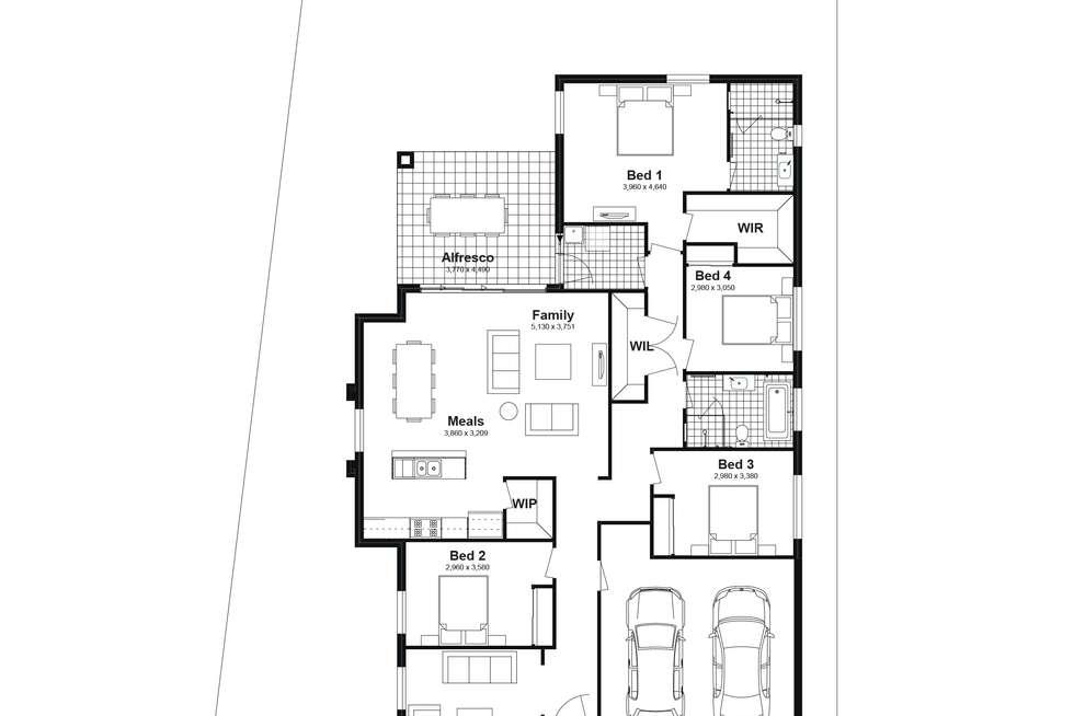 Floorplan of Homely house listing, Lot 615 Caldwell Avenues, Edmondson Park NSW 2174