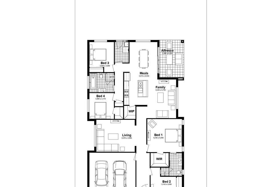 Floorplan of Homely house listing, Lot 330 Bullen Drive, Silverdale NSW 2752