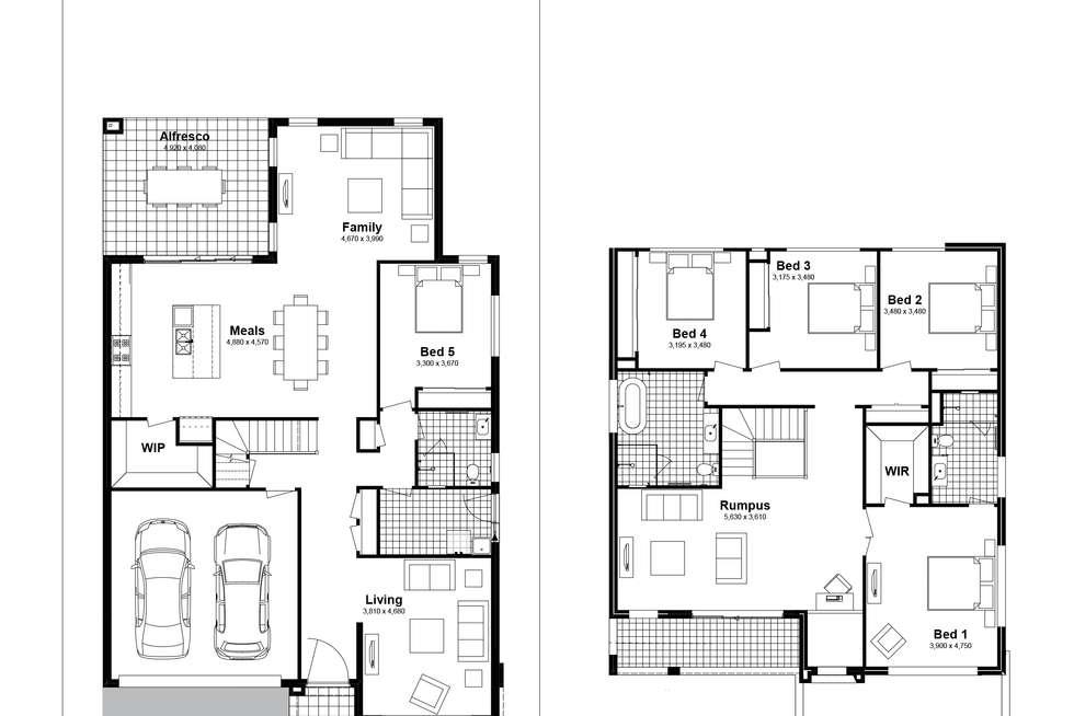 Floorplan of Homely house listing, Lot 613 Caldwell Avenue, Edmondson Park NSW 2174
