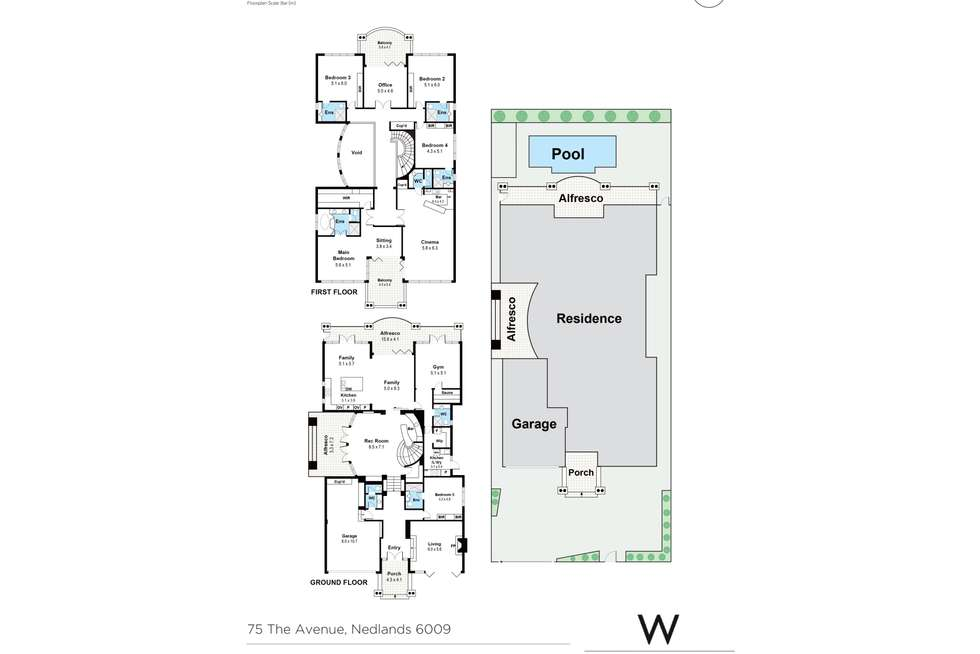 Floorplan of Homely house listing, 75 The Avenue, Nedlands WA 6009
