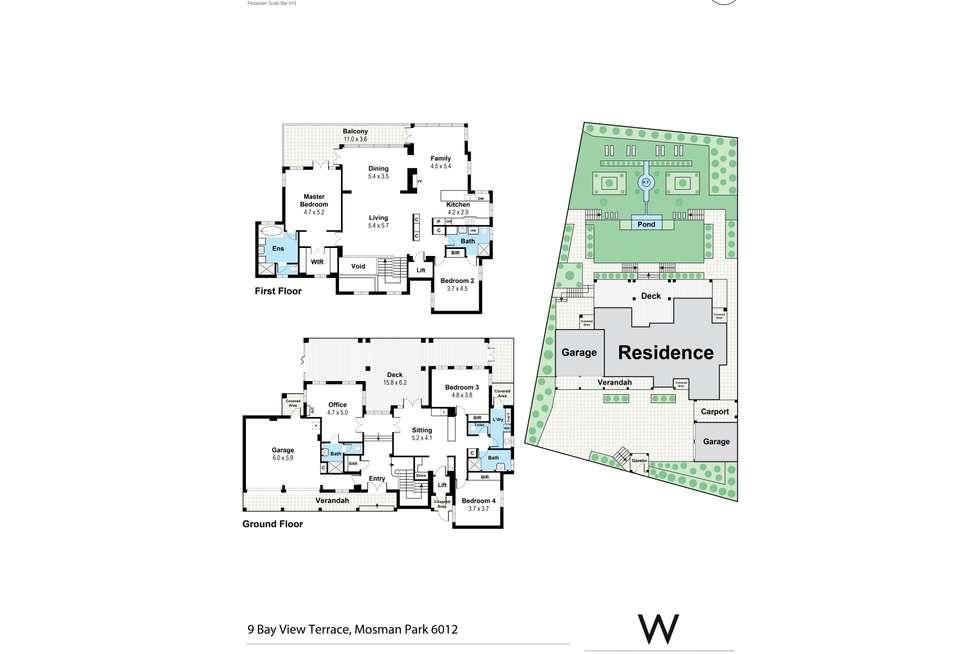 Floorplan of Homely house listing, 9 Bay View Terrace, Mosman Park WA 6012
