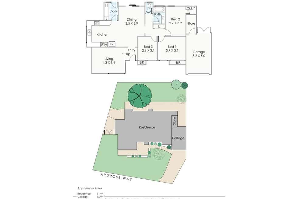 Floorplan of Homely semiDetached listing, 33B Ardross Way, Noranda WA 6062