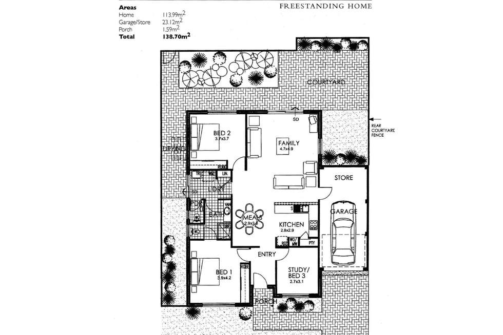 Floorplan of Homely retirement listing, 13/7 Clere Pass, Canning Vale WA 6155