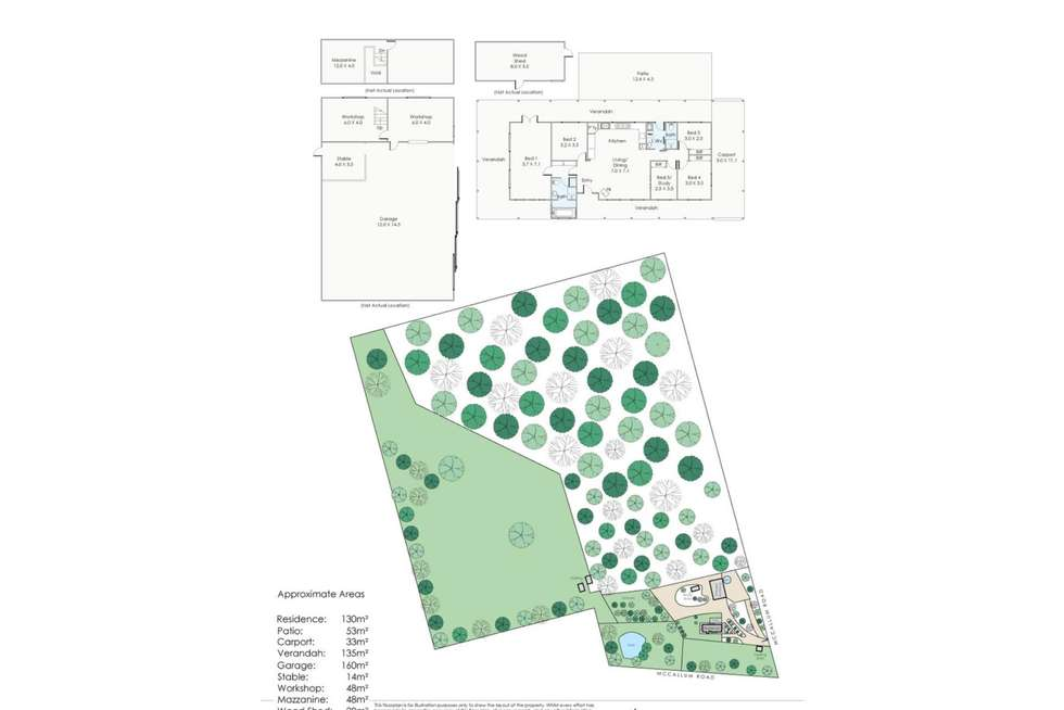 Floorplan of Homely house listing, 1780 McCallum Road, Mundaring WA 6073