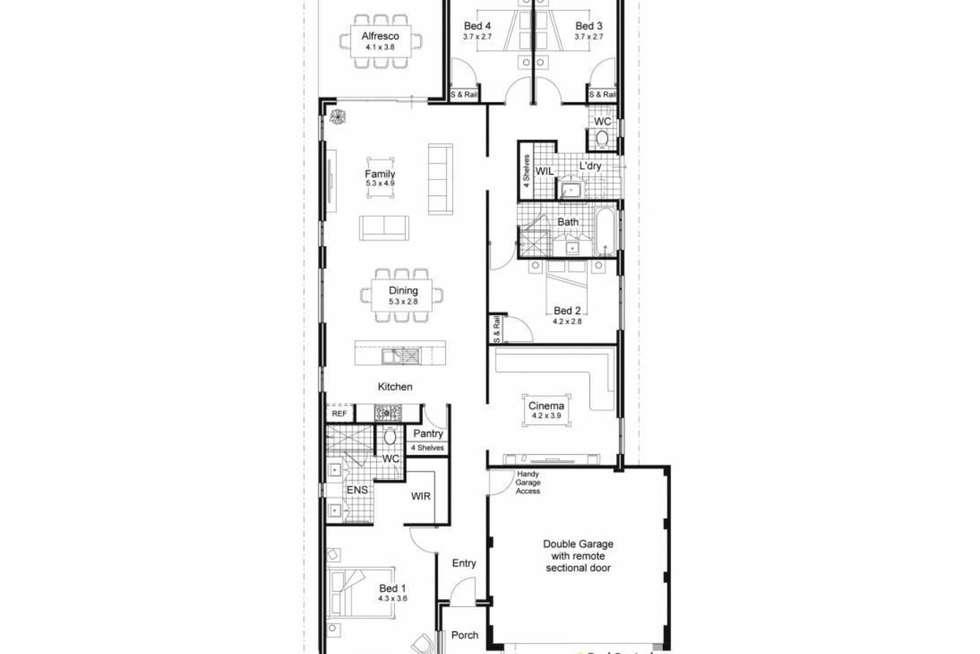 Floorplan of Homely house listing, 7 Strathmore Close, Baldivis WA 6171