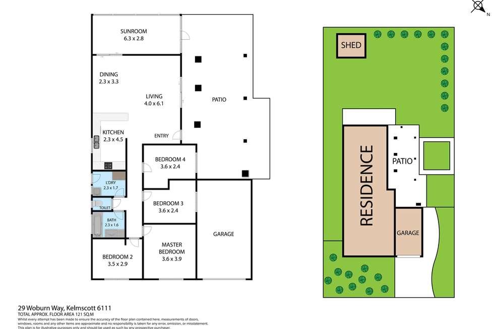 Floorplan of Homely house listing, 29 Woburn Way, Kelmscott WA 6111