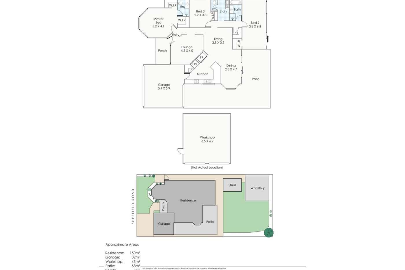 Floorplan of Homely house listing, 56 Sheffield Road, Wattle Grove WA 6107