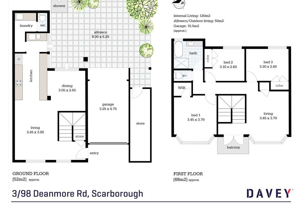 Floorplan of Homely house listing, 3/98 Deanmore Road, Scarborough WA 6019