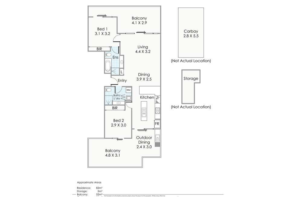 Floorplan of Homely apartment listing, 61/2 Brighton Road, Scarborough WA 6019