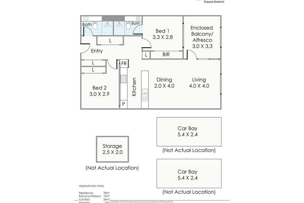Floorplan of Homely apartment listing, 133/51 Beach Street, Fremantle WA 6160