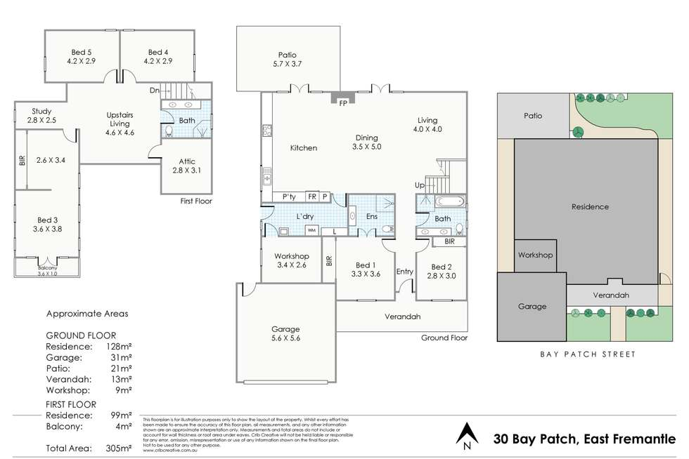 Floorplan of Homely house listing, 30 Bay Patch Street, East Fremantle WA 6158