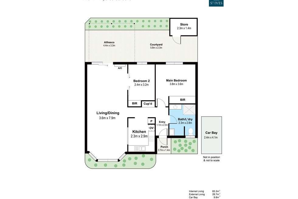 Floorplan of Homely villa listing, 41/444 Marmion Street, Myaree WA 6154