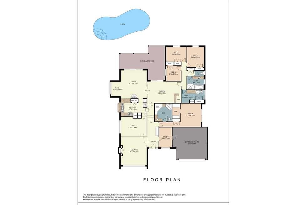 Floorplan of Homely house listing, 7 Epping Grove, Kallaroo WA 6025